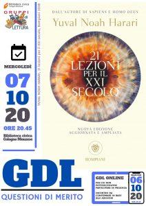 Avviso di convocazione del gdl 21 lezioni per il XXI secolo